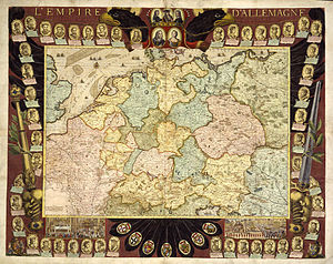 "Germany in the early modern period - The Empire in 1705, map ""L'Empire d'Allemagne"" from Nicolas de Fer"