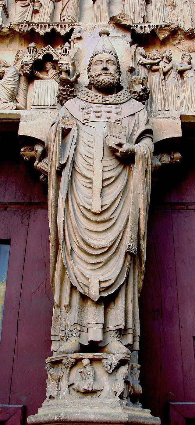 Statua di papa Callisto I, Cattedrale di Reims dans immagini sacre 640px-Reims-Portail_Nord-St_Calixte