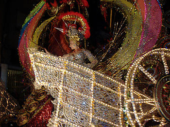 Queen of the Carnival of Santa Cruz de Tenerif...