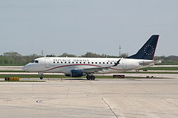Eine Embraer 170 der Republic Airlines
