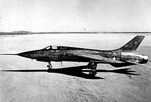 Republic F-105 Thunderchief - Republic YF-105A, AF Ser. No. 54-0098, the first of two prototypes