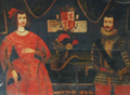 Retratos de D. João Manuel, Príncipe de Vilhena, e D. Branca de Lacerda (séc. XVII) - Palácio Ficalho, Serpa.png