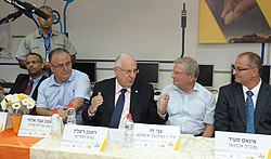 Reuven Rivlin in a visit in the city Tira, Israel (1).jpg