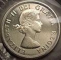Rewers Kanadyjskiej monety 1 dolarowej z 1964- Reverse of 1 Canadian Dollar from 1964.jpg
