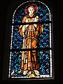 Rhodes (Moselle) église, vitrail Saint François d'Assise.jpg