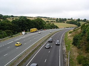 A55 road - Climbing up Rhuallt Hill eastwards.