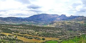 Ribagorça - Landscape of the region at the Isábena Valley.