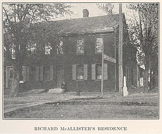 Hanover, Pennsylvania - Image: Richard Mc Allister Residence