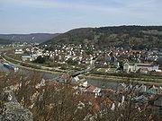 Riedenburg seen from castle Rabenstein.JPG