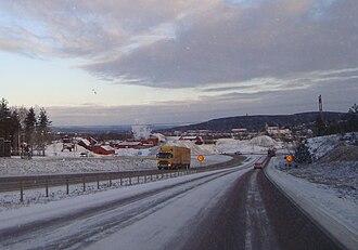 European route E16 - Image: Riksväg 50 vid Falu gruva