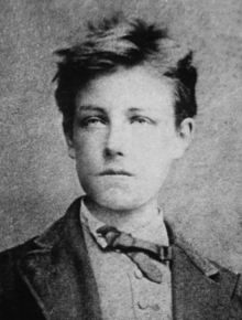 Rimbaud, aged 17, by Étienne Carjat, probably taken in December 1871[1]