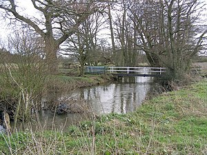 River Blackwater (River Test) - River Blackwater east of Testwood Lakes