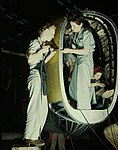 Riveters at work on fuselage of Liberator Bomber1a34927v (cropped).jpg