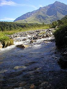 Après le torrent , se forme la rivière (ici dans les hautes