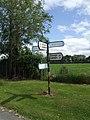 Road sign at rural road junction - geograph.org.uk - 2517724.jpg