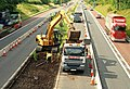 Roadworks, M1 near Lisburn - geograph.org.uk - 1412395.jpg