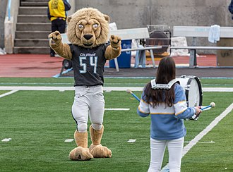 "Columbia Lions - Columbia's Mascot ""Roaree the Lion"" at a football game, 2018"
