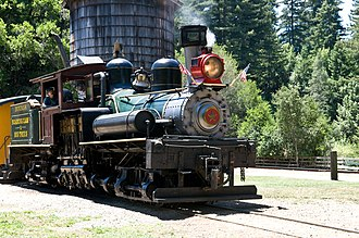 Santa Cruz County, California - Image: Roaring Camp Shay 1 04