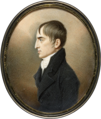 Robert Emmet - A watercolor miniature made of Emmet during his trial.