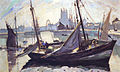 Robert Antoine Pinchon, 1930, Barques, Fécamp, oil on canvas, 98 x 63 cm.jpg