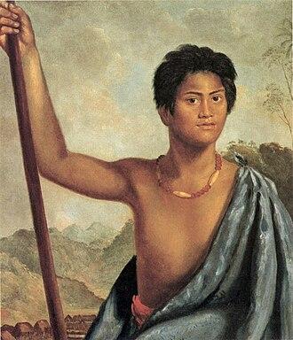 Robert Dampier - Image: Robert Dampier's oil on canvas painting 'Karaikapa, a Native of the Sandwich Islands', 1825