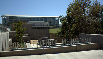 Robert F. Kennedy Community Schools - Robert F. Kennedy Inspiration Park along Wilshire Boulevard