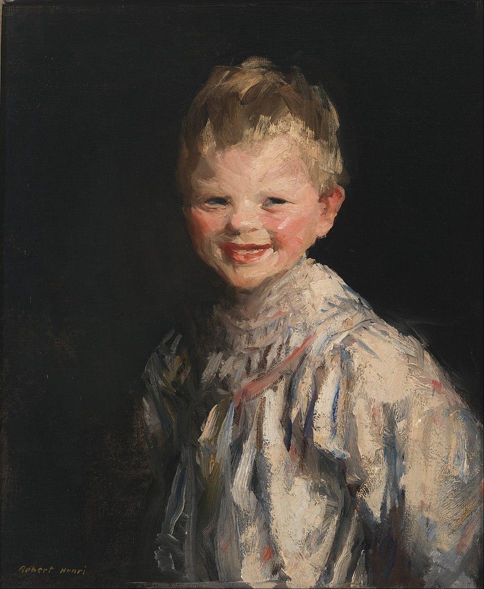 Robert Henri - Laughing Child - Google Art Project