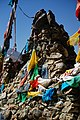 Rock cairn and prayer flags along the Friendship Highway, Tibet on 19 May 2014 - DSC03755.jpg