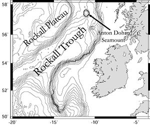 Trough (geology) - Bathymetric features of the Rockall Trough northwest of Scotland and Ireland