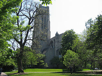 History of the University of Chicago - The Rockefeller Chapel, the tallest structure on campus.