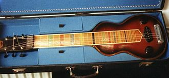 For You Blue - A lap steel guitar. The song features Lennon soloing on a Höfner lap steel.