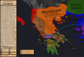 Greece in the Roman era - The Roman conquest of Ancient Greece in the second century BC.