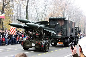 61st Anti-aircraft Missiles Regiment (Romania) - MIM-23 Hawk missile system.