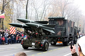 1st Surface to Air Missiles Brigade (Romania) - MIM-23 Hawk missile system.