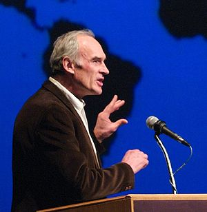 Ronald Wright - Ronald Wright speaking at the University of Alberta in 2007