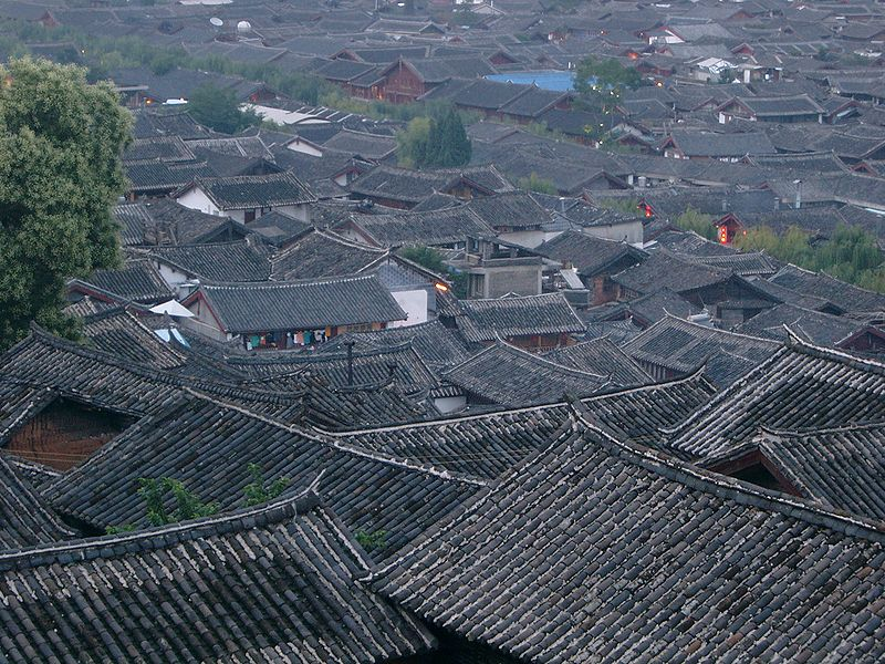 File:Roofs of old town Lijiang.jpg