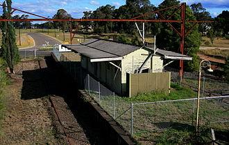Ropes Creek railway line - Ropes Creek station in June 2009