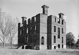 John Page (Virginia politician) - Remains of Page's Plantation, Rosewell, burned in 1916