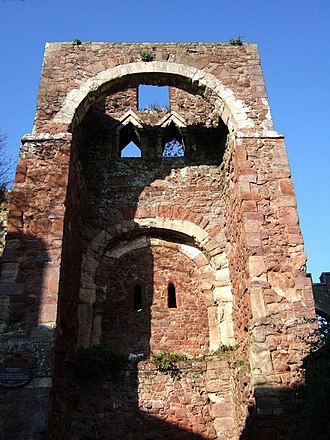Exeter - The gatehouse of Rougemont Castle