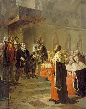 Assembly of Notables - Painting showing the Assembly of Notables of 1596 in Rouen