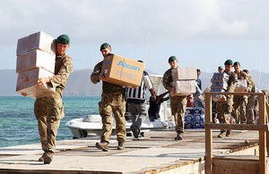 Royal Marines deliver aid to British Virgin Islands following Irma