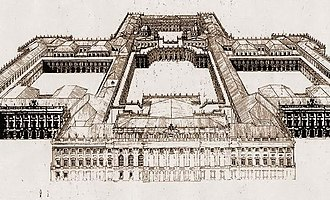 Project of Filippo Juvarra for the Royal Palace of Madrid - Project of Filippo Juvarra in 1735 for the Royal Palace of Madrid