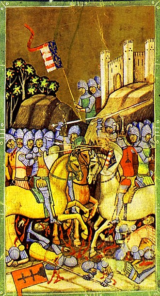 Matthew III Csák - Battle of Rozgony in 1312, Chronicon Pictum from 1360