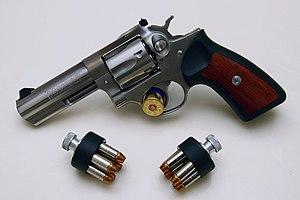 Ruger GP100 - Ruger KGP-141 with speed loaders of .357 ammunition.