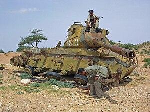 M47 Patton - Destroyed M47 in Somalia