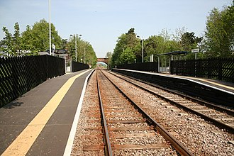 Ruskington railway station - Image: Ruskington Railway Station