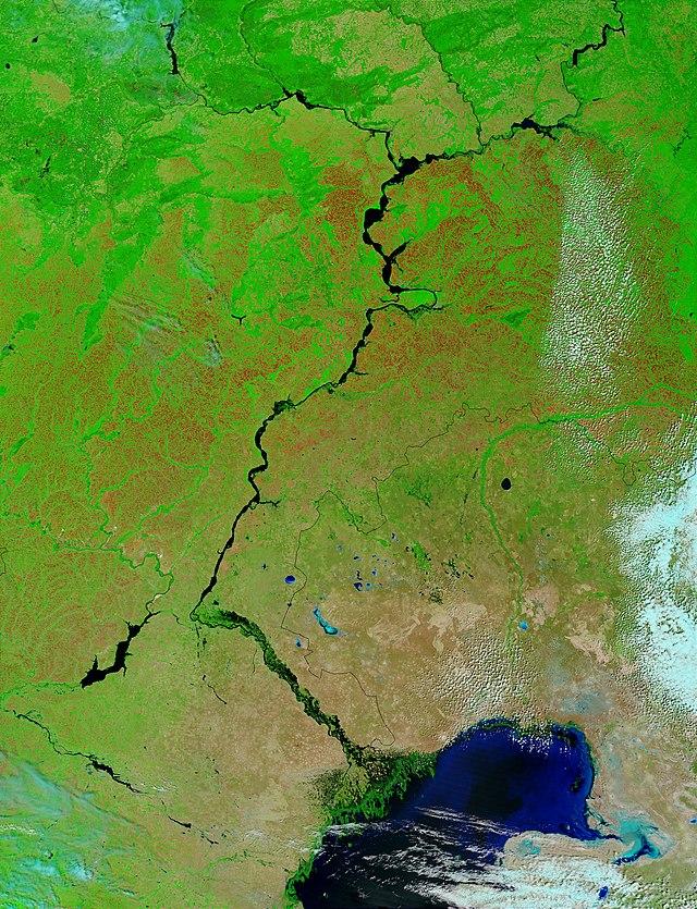 Volga River Wikiwand - Volga river on world map