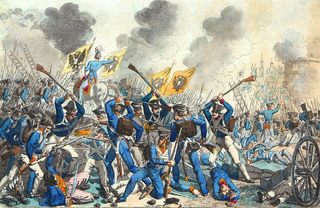Battle of Warsaw (1831) fought in September 1831 between Imperial Russia and Poland