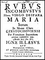 Rvbvs incombvstvs ssma Virgo Deipara Maria iterum in Monte Claro Czestochoviensi post 1690 (79398677).jpg