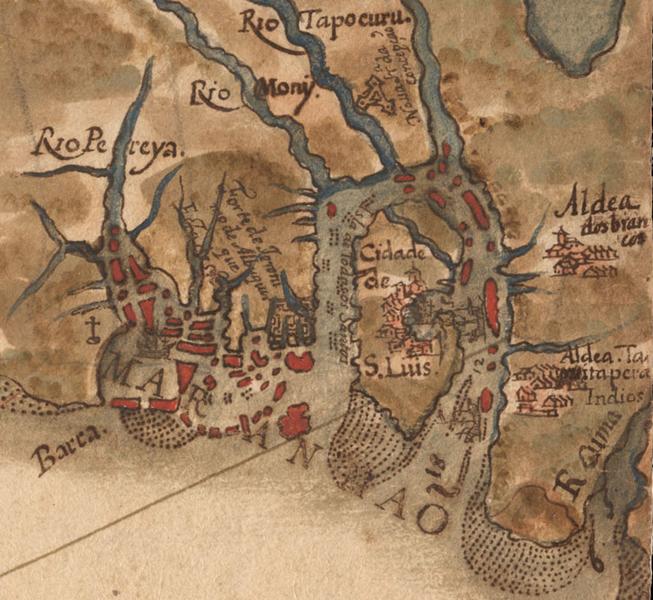 Ficheiro:São Luis do Maranhão em mapa de 1629 por Albernaz I.PNG